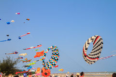 Kite festival 2014 at Cha - am beach, Thailand Royalty Free Stock Photo