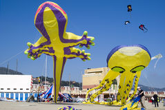 Kite festival, Imperia, Italy Stock Images