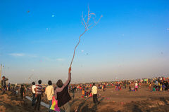 Kite Festival India Candid Stock Photography