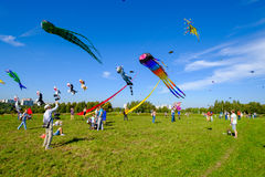 Kite festival in Moscow Stock Photos
