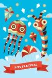 Kite Festival Poster. A vector illustration of kite festival poster design Stock Photos