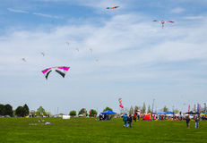 Kite Festival. A sky full of kites at a recent kite festival in Milwaukee, Wisconsin Stock Photography