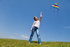Kite fly Stock Images