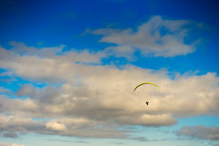 Kite flyer in the sky background Stock Images