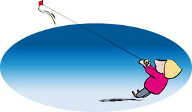 Kite flyer Royalty Free Stock Images