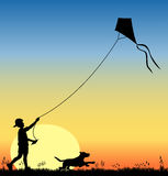 Kite_flying_03 Immagini Stock Libere da Diritti