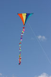 Kite Flying. In a blue sky royalty free stock photography