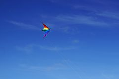 A Kite Flying. In Md Air With Nice Blue Sky stock images