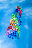 Kite flying on the blue sky Royalty Free Stock Photos