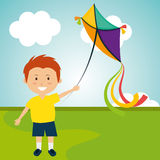 Kite flying in cloudscapes Royalty Free Stock Photo