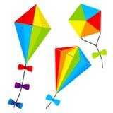 Kite flying. Flat design,  illustration Royalty Free Stock Images