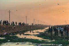 Kite Flying India. Royalty Free Stock Photography