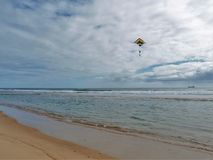 Kite Flying over Cape Hatteras National Seashore royalty free stock image