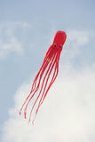 Kite flying - shape of octopus Royalty Free Stock Photo