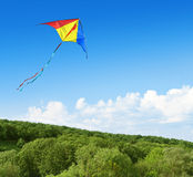 Kite flying in the sky Stock Photo