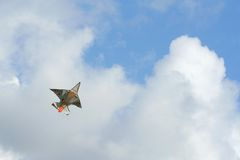 Kite flying in sky. Kite flying in high in sky royalty free stock photo