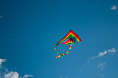 Kite flying in the sky Stock Images