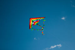Kite flying in the sky Royalty Free Stock Images