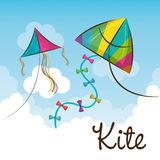 Kite flying in the sky Royalty Free Stock Image