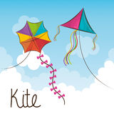 Kite flying in the sky Royalty Free Stock Photo