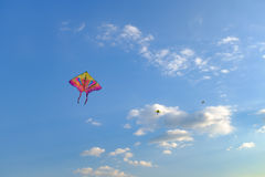 A kite flying in the sky Royalty Free Stock Photography