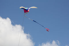 Kite flying in the wind Royalty Free Stock Images