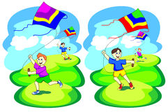 Kite game Royalty Free Stock Photo