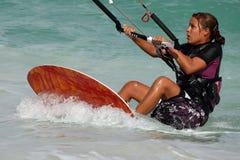 Kite girl Royalty Free Stock Images