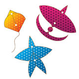 Kite gliders color full  thai Royalty Free Stock Photography