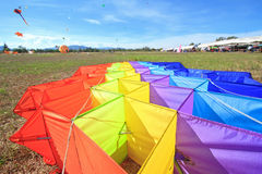 Kite on the ground. Royalty Free Stock Images