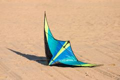 Kite on Ground. A kite on the ground at the beach Royalty Free Stock Image