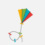 Kite  Icon. Vector Illustration Stock Photos
