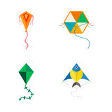 Kite icon vector. Royalty Free Stock Images