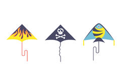 Kite icon vector. Stock Images