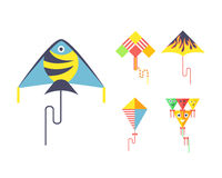 Kite icon vector. Royalty Free Stock Image