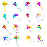 Kite icons set Royalty Free Stock Images