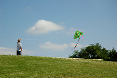 Kite III. Man with kite Stock Images