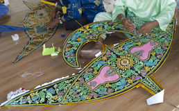 Kite making process. stock images