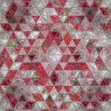 Kite mosaic triangle patchwork. Kite mosaic patchwork in white, red  and green Stock Images