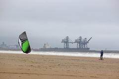 Kite mountain boarder Royalty Free Stock Photography