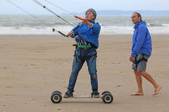 Kite mountain boarder Stock Images