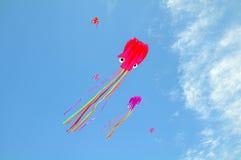 Kite. Octopus kite flying in the sky stock image