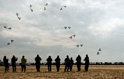 Kite performance Royalty Free Stock Photography