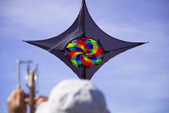 Kite player Royalty Free Stock Photos