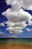 Kite and Porto Santo beach Stock Image