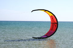 Kite in Prassonisi cape in Rhodes island Stock Photos