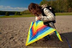 kite repair Στοκ Εικόνες