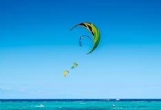 Kite sails at strong wind at Bulabog beach Stock Photo