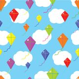 Kite seamless cloud texture Stock Image
