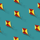 Kite seamless pattern. Seamless wallpaper kite seamless pattern design Royalty Free Stock Photography